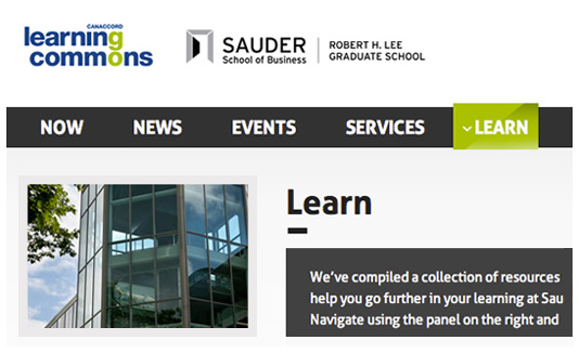 Canaccord Learning Commons Website